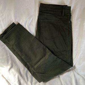 Dark / Army Green / Olive Skinny Jeggings Size 16